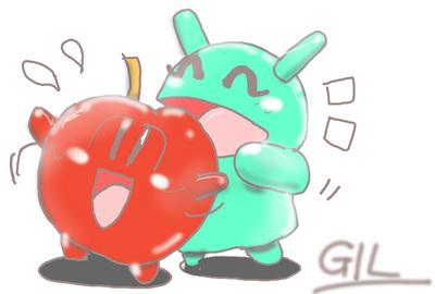 20140315 ドロイド君と林檎01-GIL.jpg
